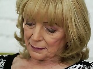 Old lady Szuzanne and her big cocked young lover | big cock cock foot foot fetish