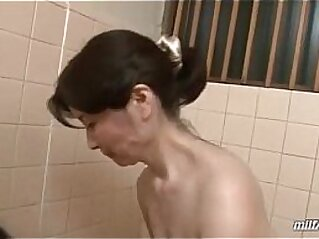 Mature Woman Washing Young Guy Body Sucking His Cock In The Bathroom   asian bathroom cock mature