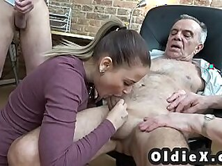 Old and young foursome   4some blowjob cum cumshots