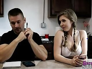 step-daughter fucks dad again and again - Lena Paul | bed busty curvy girl daddy