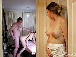 She watches her TWIN SISTER fuck her DAD, then takes her turn! kinkycouple111 | amateur british creampie daddy