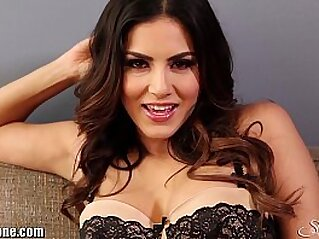 SunnyLeone Striptease on the couch | babe celebrity couch desi