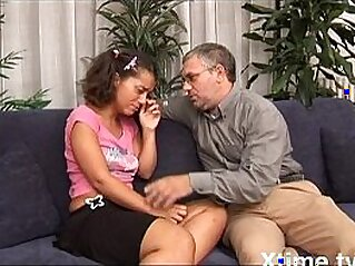 Teenager finds solace with her daddy\'s cock   amateur cock daddy italian