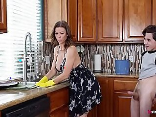 Hot Step Mom Alexis Fawx Cannot do the chores while step son tries to fuck her nonstop   blowjob cowgirls doggy fuck