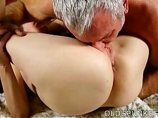 Super horny old spunker sucks cock while fucking her soaking wet pussy   aged cock cougar cunt
