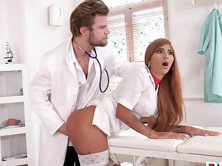 Kinky doc makes nurse squirt | anal ass big ass blowjob